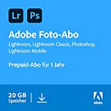 Adobe Creative Cloud Foto-Abo mit 20GB: Photoshop und Lightroom | 1 Jahreslizenz | PC/Mac Online Code & Download