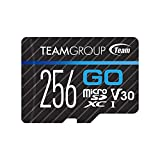 TEAMGROUP Go Card 256GB Micro SD Karte für GoPro & Action Kameras, MicroSDXC UHS-I U3 V30 High Speed Flash Speicherkarte mit Adapter für Outdoor, Sport, 4K...