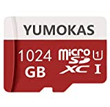 Highspeed-MicroSDXC Card 1024 GB Class 10 High Speed Speicherkarten Micro SD Memory Card mit Free Adapter für Smartphone/Video/Dashcamera/GoPro (1024GB)