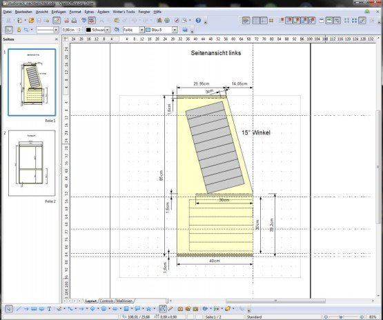 Das Studiorack in OpenOffice Draw