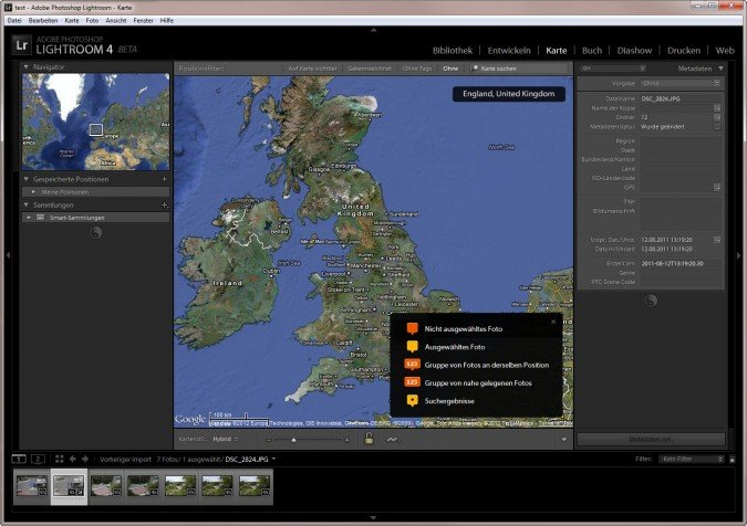 Adobe Lightroom 4 Geotagging