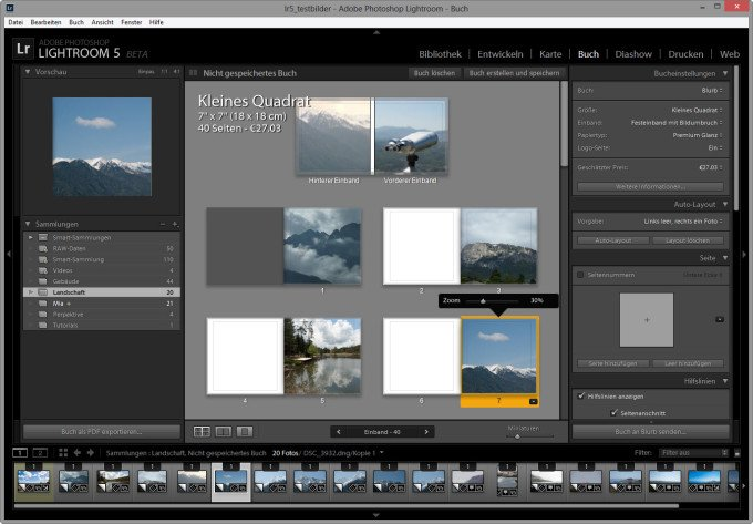 Das Buchmodul in Lightroom 5