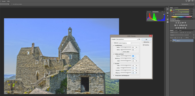 HDR Tonemapping in Photoshop