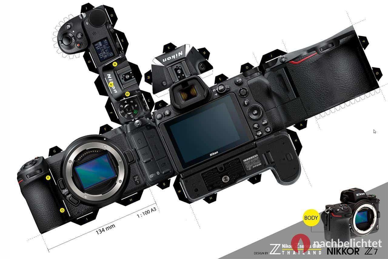 Nikon Z7 als Bastelbogen