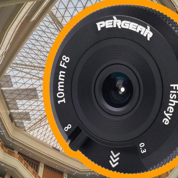 Nur 75 €: Pergear 10mm F8 Fisheye-Objektiv mit Fokushebel vorgestellt